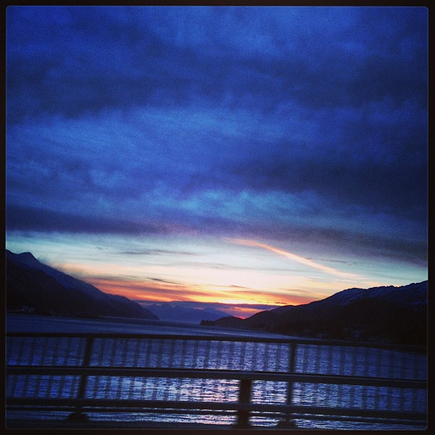 Gosh Juneau mornings don't suck. #sunrise #windchillblowshard #destinationeaglecrest